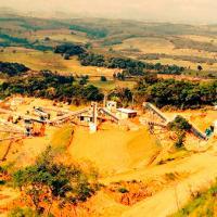 Planta de mineração de ferro